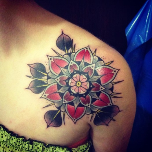 Photo:  Flower Tattoo 002